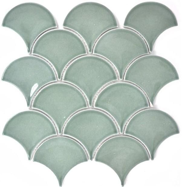Fan pattern uni petrol glossy 256x273